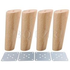 15cm Height Oblique Tapered Furniture Feet Set Of 4 Wood Color By Dsltd.