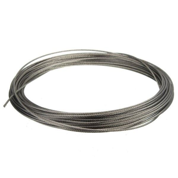【Free Shipping】15M (50feet) 100% Marine Grade 316 Stainless Steel Cable Wire Rope 1/16  1.5MM