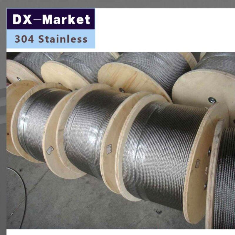 1.5mm wire rope , 20meter/lot , 7*19 , 304 stainless steel wire rope Anti rust line