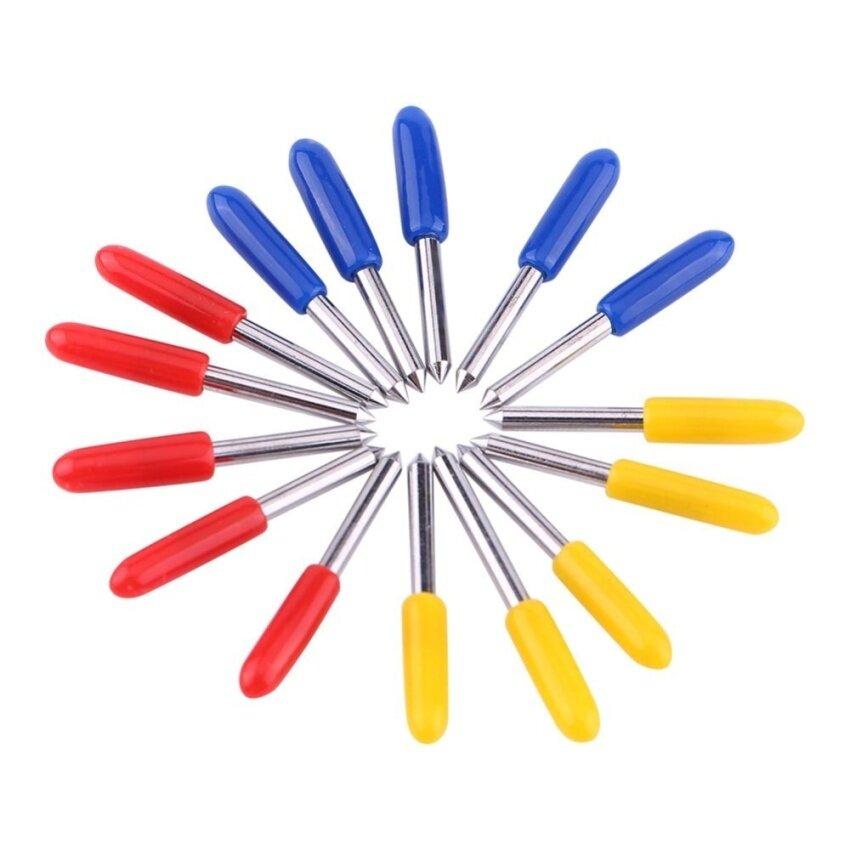 15 Pcs Kekerasan Tinggi Ploter Vinil Pisau Pemotong Cutting Tool30/45/60 Derajat