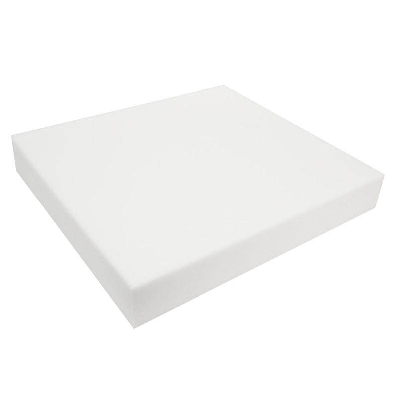 18x 20 White High Density Seat Foam Cushion Pad Replacement Upholstery Firm # 3 inch - intl