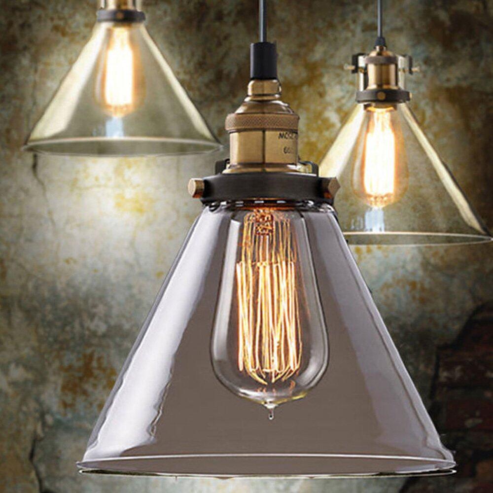 185mm Retro Vintage Loft Pendant Light Lamp Ceiling Industrial Glass Shade half-priced - intl
