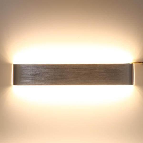 18W Modern Minimalist Aluminum LED Wall Lamp Hallway Bathroom Light (Silver Warm White) - intl