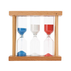 1min 3mins 5mins Wood Frame Glass Sand Hourglass Timer Clock Home Decor Gift