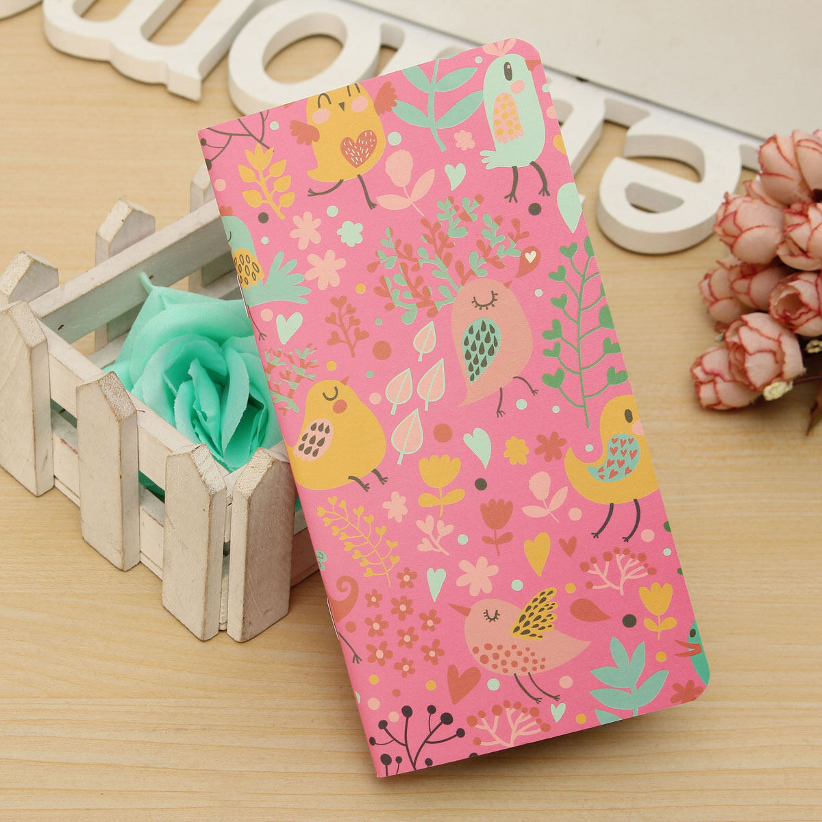 Mua 1pc Cute Portable Notebook Pocket Memo Notepad Brown Paper Journal Diary 48Page Pink - intl