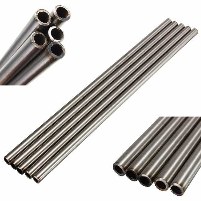 5Pcs 304 Stainless Steel Capillary Tube Pipe Silver OD 12mmx10mm ID,Length 250mm
