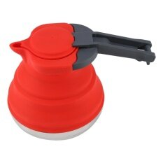 1pc Portable Foldable Silicone Kettle Boiled Water Teakettle Outdoor Hiking Camping Use (red) By Highfly.
