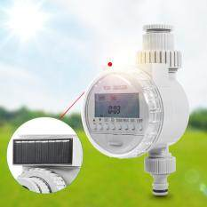 1Pc Solar Power Home Garden Auto Water Saving Irrigation Controller LCD DiSolar Power Home Garden Auto Water Saving Irrigation Controller LCD Digital