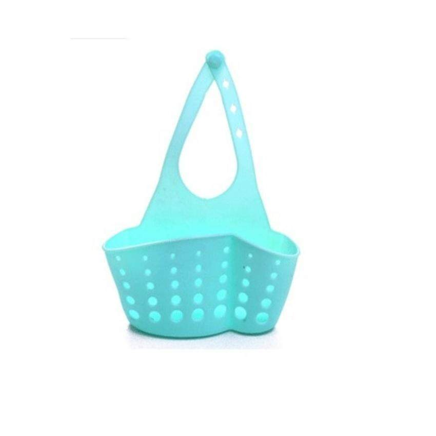 1pcs Kitchen Hanging Basket Sink Organizer Baskets Washing Basin Holder (Blue)
