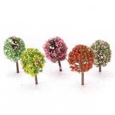 1set artificial pink tree willow miniature fairy garden home house decoration micro