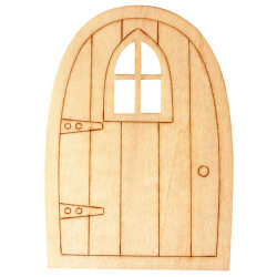 1x B. 10pcs wood door chips (Intl)