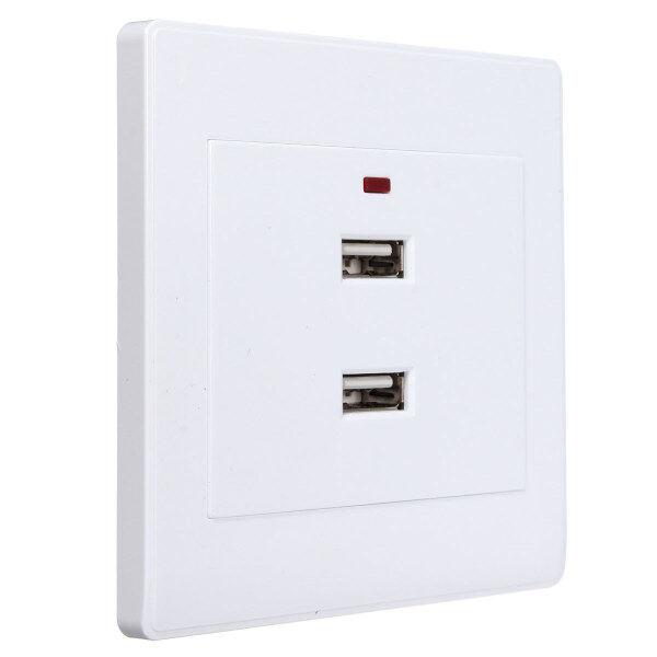 Ổ Cắm Sạc Tường Cổng USB Kép 2.1A Bộ Chuyển Đổi Bảng Điện, Ổ Cắm Điện
