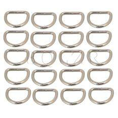 2.5cm Silvery Metal D Ring D Shaped Buckle