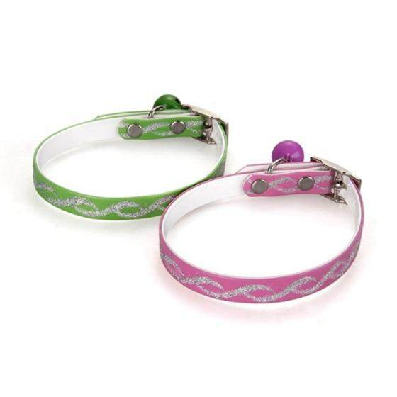2 Adjustable Cat Kitty Kitten Reflective Collar W/ Bell - Intl By Lapurer.
