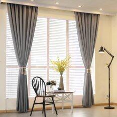 2 PCS 150x260cm Plain dyed bedroom blackout window curtain