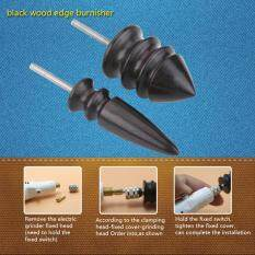 2 pcs /set Leather Craft Grooves Tool Handmade DIY Leather Edge Slicker Round Wood Burnisher