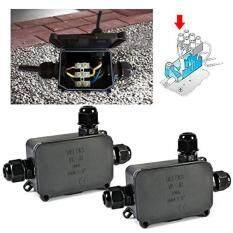 Hình ảnh 2 Pcs Waterproof Junction Outdoor Plastic Enclosure Cable Connect Box