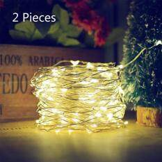 2 Pieces Solar String Lights (72 ft, Waterproof, 8 Modes) Bendable Copper Wire High Efficiency 200 LED Durable Fairy Outdoor String Lights for Garden, Patio, Wedding and Christmas Party