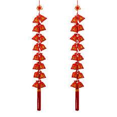 2019春节装饰福袋串16头 2 Strings of Chinese New Year Red Hanging Lucky Bag Pocket Ornament String Chinese Spring Festival Wedding Restauran Decoration