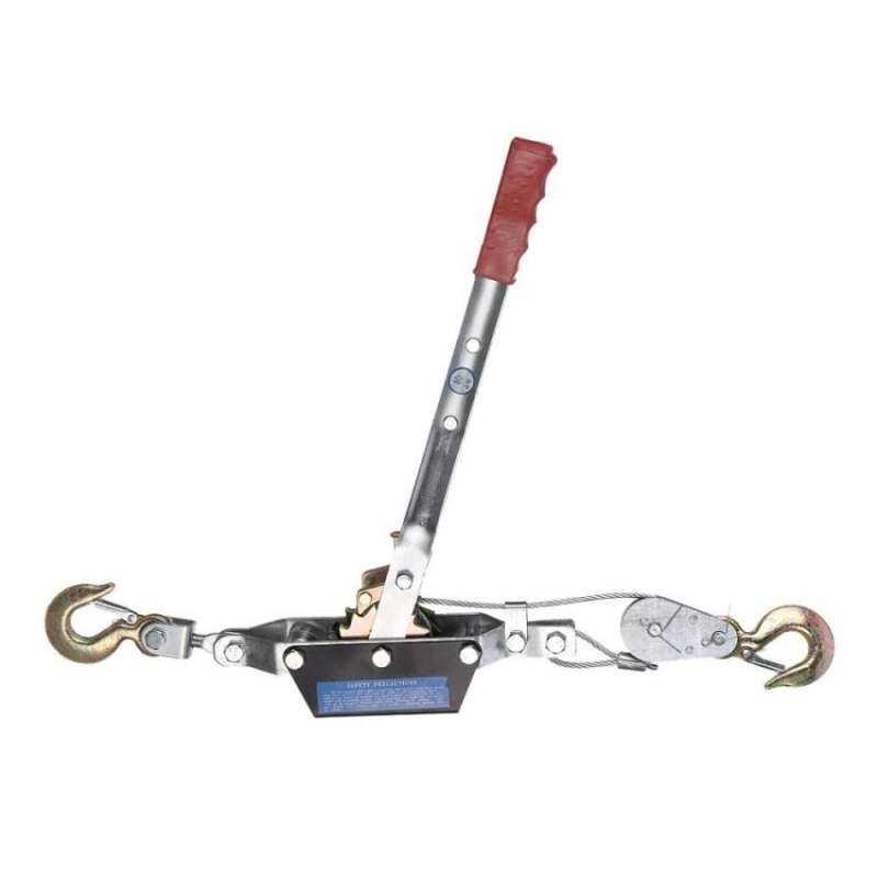 2 Ton Hand Winch Puller 2 Hooks 4x4 4WD Truck Power Tool Hoist CarTrailer - intl