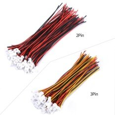 20 Sets/pack Micro JST 1.25MM 3-Pin Male&Female Connector Plug with Wires Cables(2Pin)