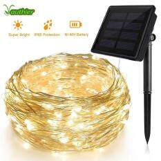 200 LED Outdoor Solar Lamps 72ft 8 Modes LED String Lights Fairy Holiday Christmas Party Garlands Solar Garden Waterproof Lights(Warm White)
