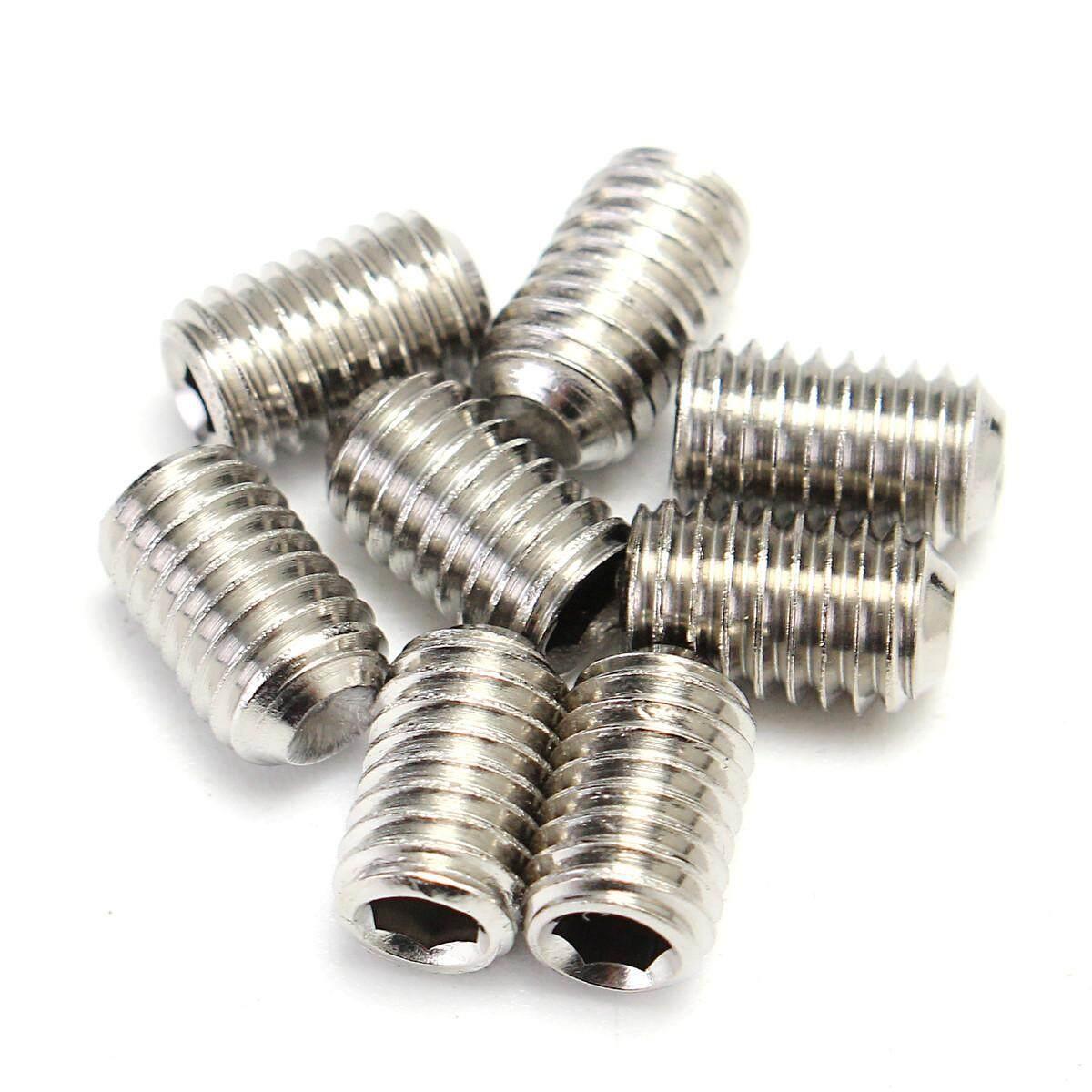 200Pcs M3 M4 M5 M6 M8 Stainless Steel Hex Socket Set Screws Assortment Kit + Box - intl - 2