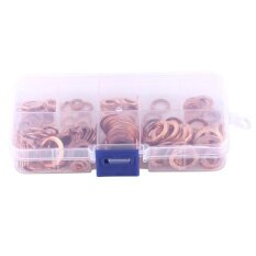qianmei 200pcs M5-M14 Solid Copper Washers Flat Ring Assorted Set Professional Hardware in Box