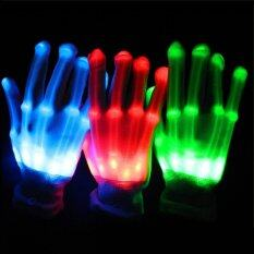 2016 Hot Sale High Quality LED Gloves for Party (Red)