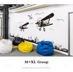2017 3D Canton Airplane Wall Stickers for Kids Room Black Colour