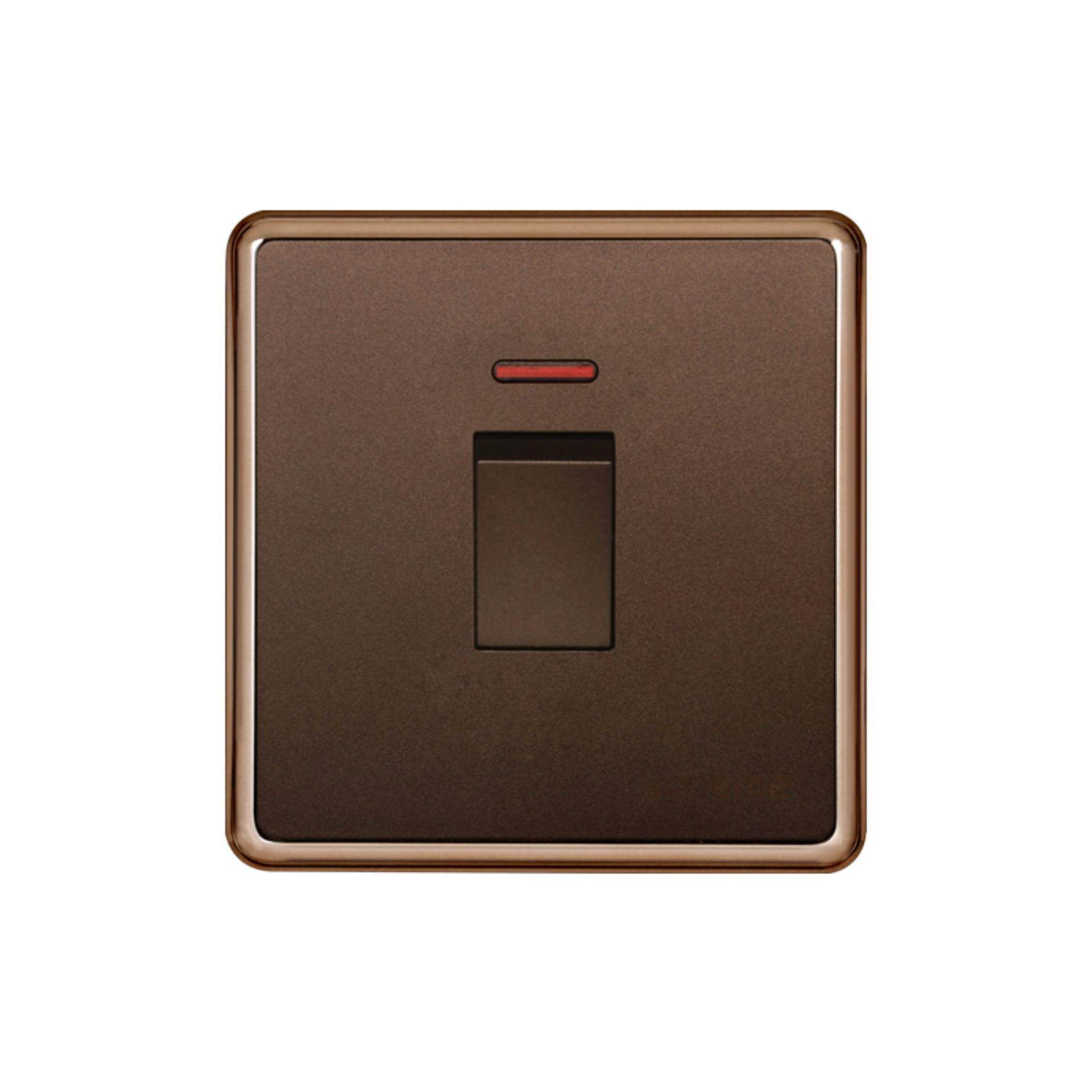 20A 1 gang Brown color panel wall switch and water heater switch - intl
