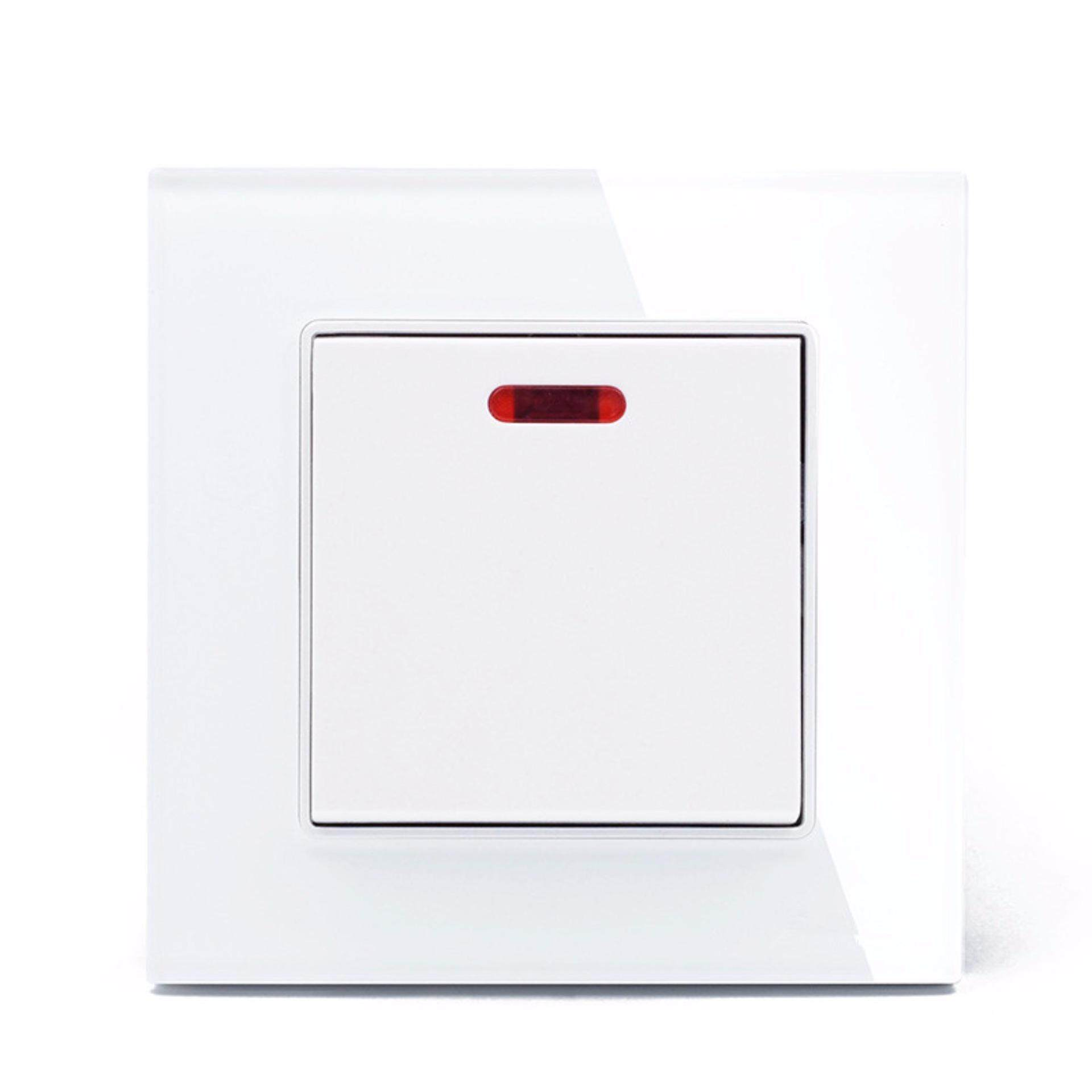 Price 20A White Color Glass Panel 1 Gang Wall Switch And Water Heater Switch Intl Oem China