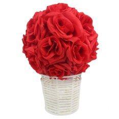 Mt Bunga Mencium Bola Sutra Simulasi Enkripsi Rose Pernikahan Dekorasi Pesta Rumahan