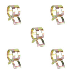20Pcs 10mm Spring Band Type Fuel Vacuum Hose Silicone Oil Water Pipe Clamp Clip
