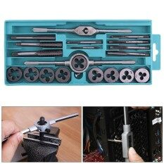 20pcs Alloy Steel Tap & Die Set with M3-M12 NC Screw Thread Plugs Taps and Small Tap Twisted Hand