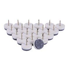 epayst 20pcs Furniture Leg Nail-on Felt Floor Protectors Pad White 20mm