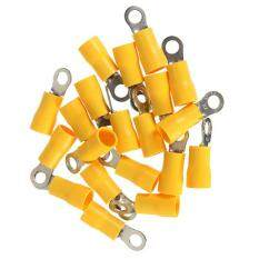 20PCS Yellow Ring Heat Shrink Electrical Wiring Crimp Butt Terminal Connectors M4