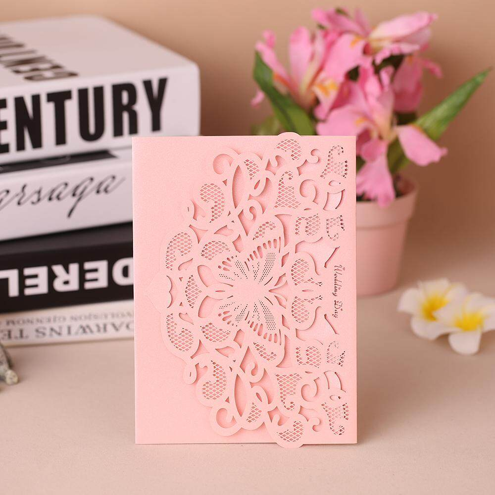 20pcs/set Wedding Invitation Cards Pearl Paper Laser Cut Hollow Butterfly Pattern Invitation Cards Kit - Intl By Tomtop.