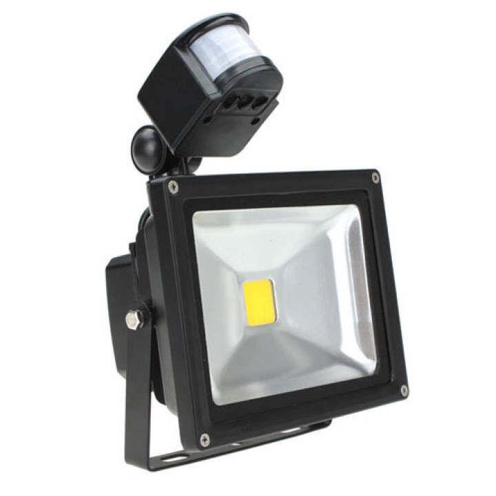 20W Garden Outdoor IP65 PIR Motion Sensor LED White Flood