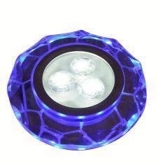 220V 3LED Round Crystal Ceiling Light Bull Eye Lamp Track Light Downlight Spotlight with Side Light