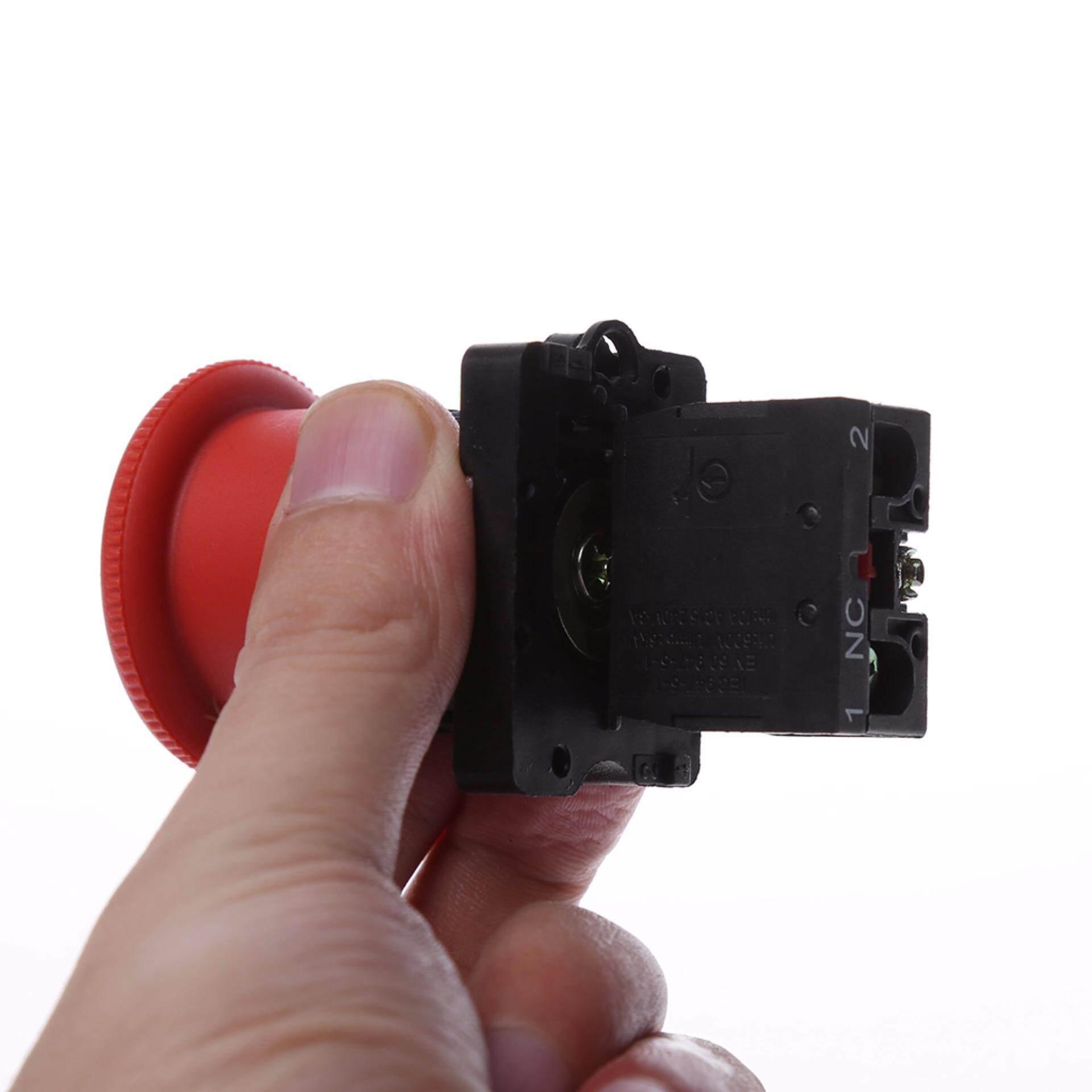 22 Mm NC N/C Merah Berhenti Darurat Jamur Tombol Tekan Switch 600 V 10A