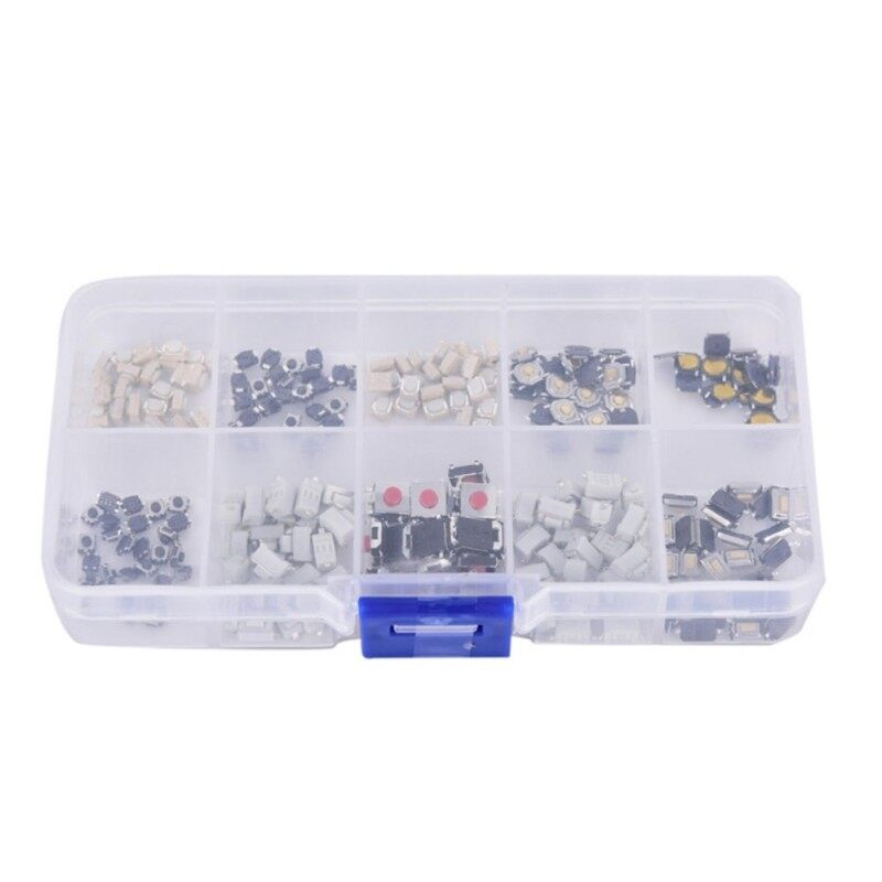 250pcs 10value tactile tact push button switch micro switch car remote control