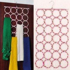 28 Hole Ring Rope Scarf Wraps Shawl Storage Holder Hook Hanger Decor Room Tudung (mix Colour) By Toko Ar-Rayyan.