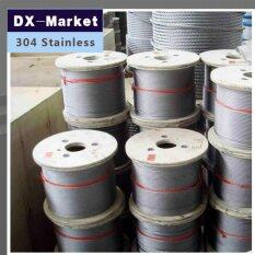 2mm wire rope, 50meter/lot , 7*7 , 304 stainless steel wire rope Anti rust line