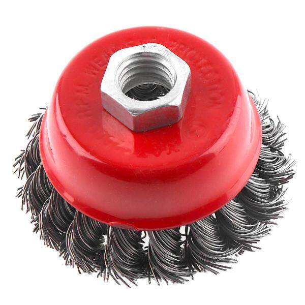 2pcs 3 Inch Stainless Steel Wire Polishing Bowl Brush Wheels Set for Polished Derusting