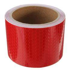2pcs 3M Safety Reflective Warning Conspicuity Film Sticker Strip Self Adhesive tape Red