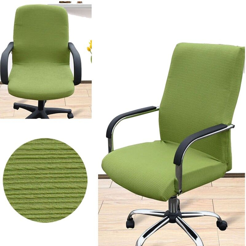 2Pcs Arm Chair Cover Three Sizes Office Computer Chair Cover Side Zipper Design Recouvre Chaise Stretch Rotating Lift Chair Cover - intl