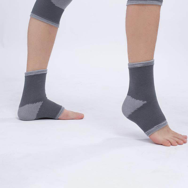 2pcs Basketball Elastic Ankle Support Protector Volleyball Soccer Breathable Ankle Brace Support Foot Protection - grey(Size XXL)