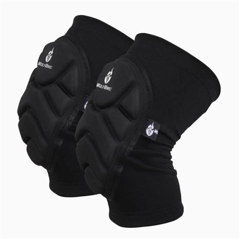 2pcs Kneepad Skiing Goalkeeper Soccer Football Volleyball Extreme Sports knee pads Protect Cycling Knee Protector - Size L