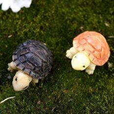 2pcs Miniature Bonsai Fairy Garden Landscape Tortoise Decor Multi